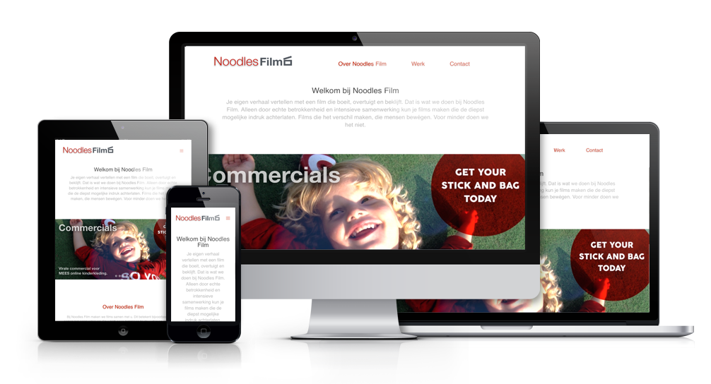 Responsive website Noodles Film