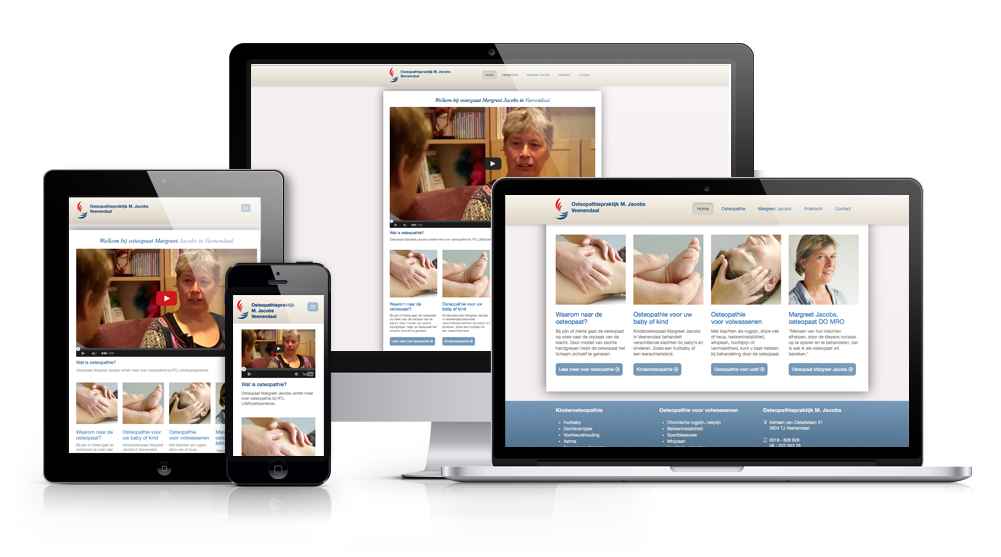 Responsive website Osteopaat M. Jacobs in Veenendaal
