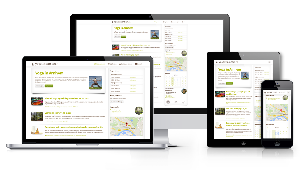 Responsive website Yoga Arnhem